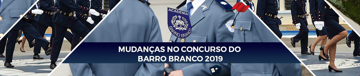 MUDANÇAS NO CONCURSO DO BARRO BRANCO 2019
