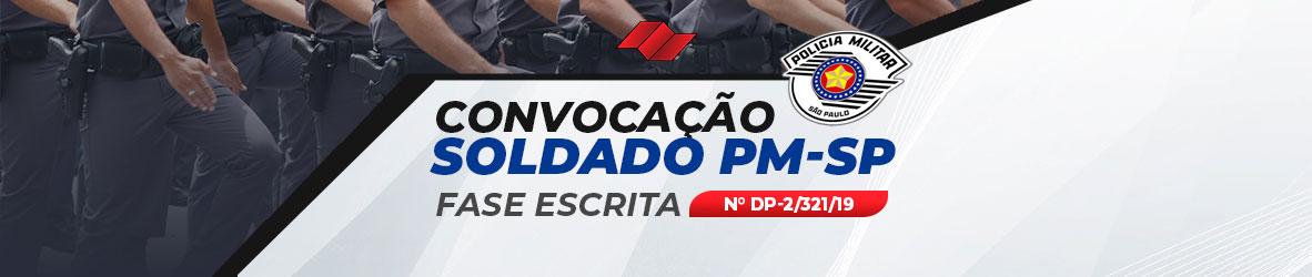 CONVOCAÇÃO PROVA ESCRITA – SOLDADO POLÍCIA MILITAR