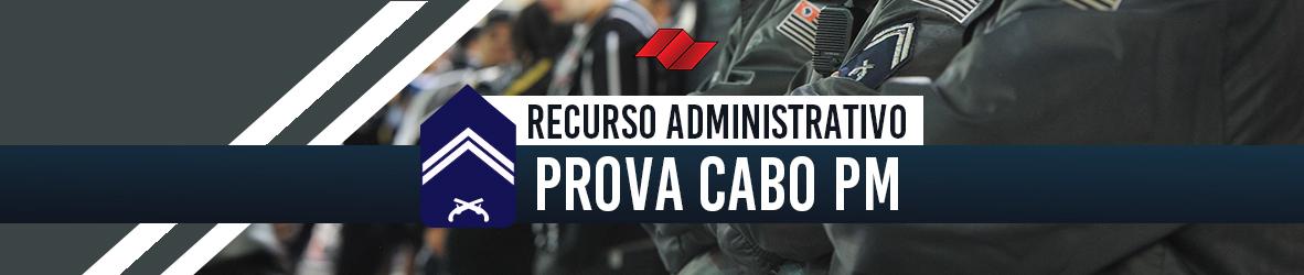 PROVA DE CABO PM – RECURSO